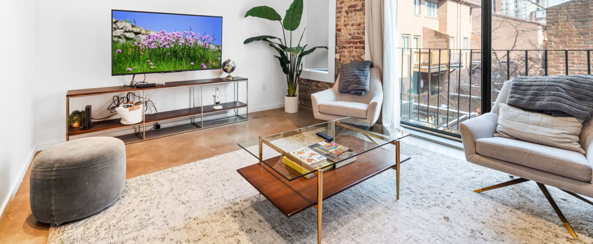 Boutique Loft Apartment with Exposed Brick in Philadelphia Hero Image in Center City, Philadelphia, PA