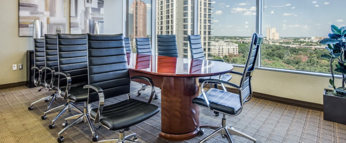 10 Person Boardroom with Screen Sharing & Whiteboard in Dallas Hero Image in Uptown, Dallas, TX