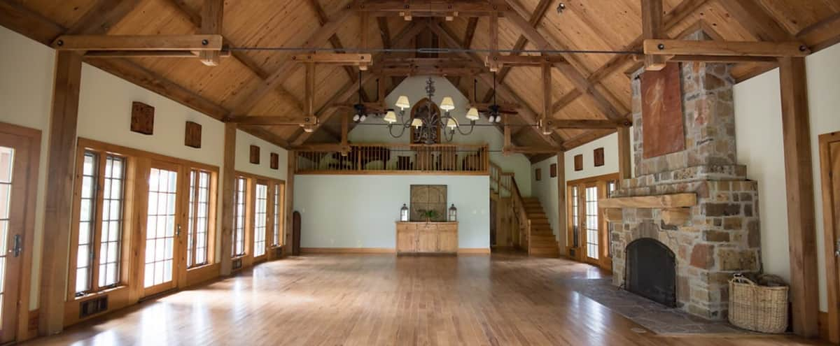 Cozy Celebration Hall with Fireplace & Grand Piano in Wimberley Hero Image in undefined, Wimberley, TX