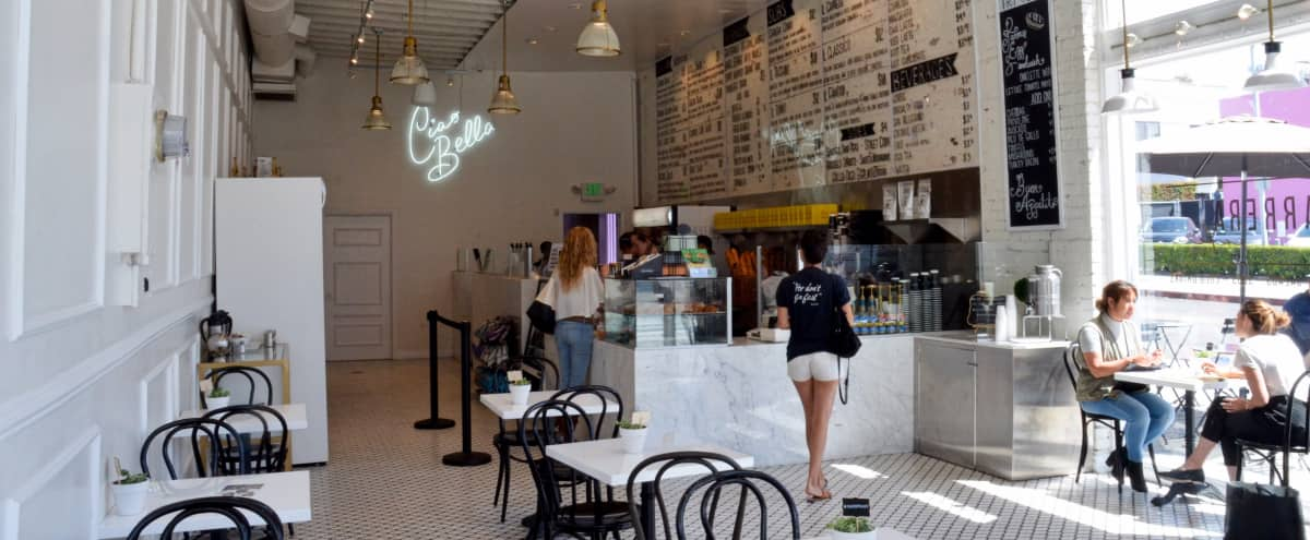 Charming, Sun-lit Café for film/photo shoots - WeHo in Los Angeles Hero Image in Central LA, Los Angeles, CA