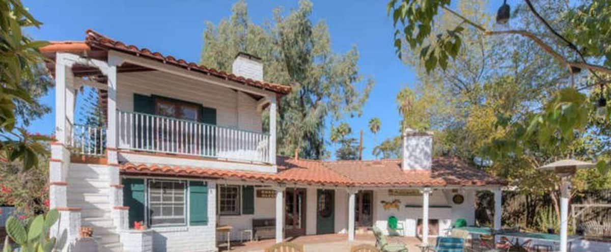 Secluded 1 Acre Private Compound for Retreats with Original Farmhouse from 1911 in Los Angeles Hero Image in Lake Balboa, Los Angeles, CA
