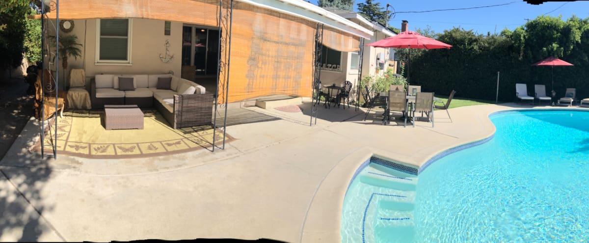 Suburban  Valley style Backyard  with 9ft deep pool Located in Van Nuys in Van Nuys Hero Image in Van Nuys, Van Nuys, CA