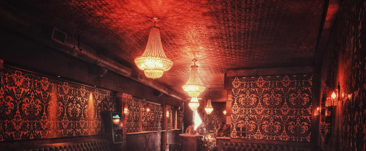 Chic Vintage Bar Production Space w/ Dance Floor, Stage, Patio, & Fireplace in hollywood Hero Image in Hollywood, hollywood, CA