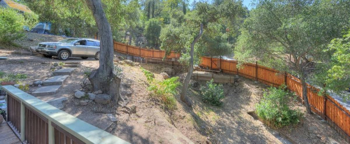 Rustic canyon house with land and mountain views in Topanga Hero Image in Fernwood, Topanga, CA