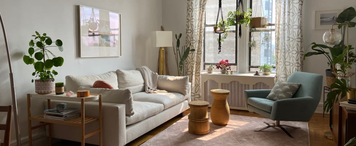 Uptown Sunny Apartment with River View in New York Hero Image in Washington Heights, New York, NY