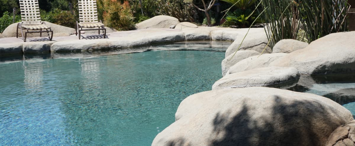 "Private Canyonside ""Getaway"" with Lagoon Style Pool and Hot Tub in San Diego Hero Image in College West, San Diego, CA"