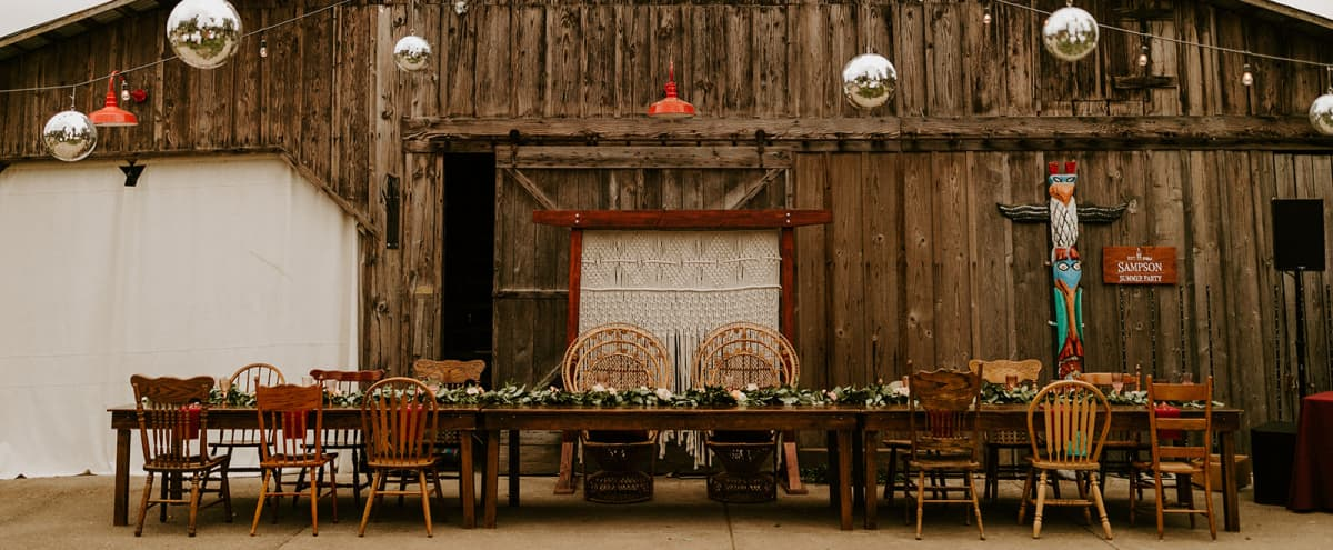 The Five Oaks Farm: Rustic Venue, Gardens, Farm House, Barn, 6 Acres, and more... in Saint Paul Hero Image in undefined, Saint Paul, OR