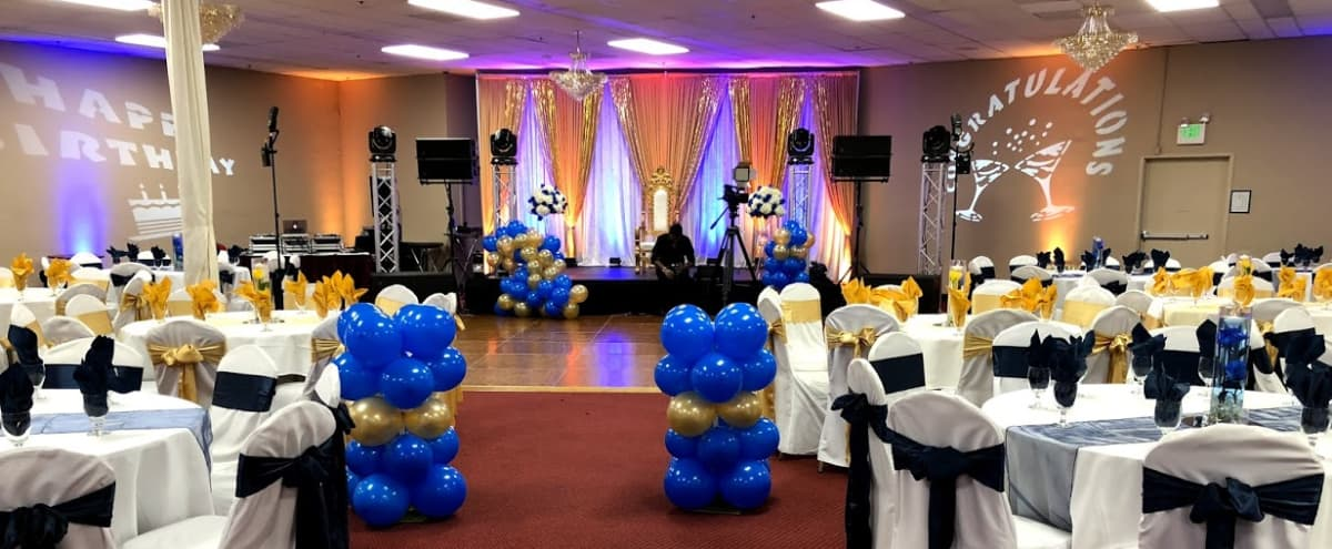 Centrally Located Large Banquet Hall Space that Accommodates up to 1000 people in Hayward Hero Image in Harder-Tennyson, Hayward, CA