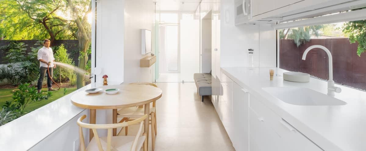 Award Winning Design, Modern Minimalist Guest House in Lush Urban Garden: KBOX in Phoenix Hero Image in Garfield, Phoenix, AZ