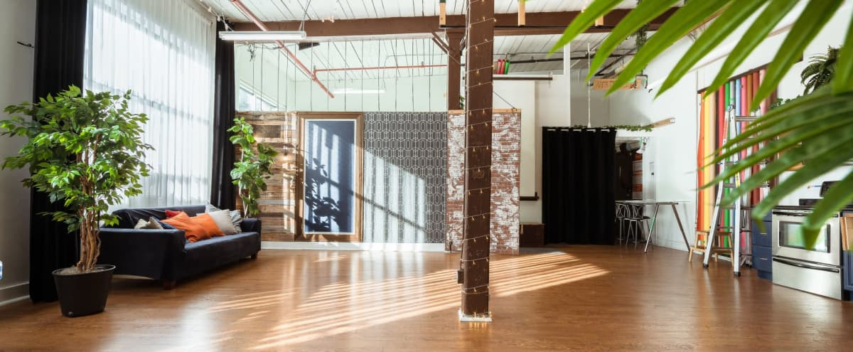 Bright Loft Style Space for Private Events in Toronto Hero Image in Leslieville, Toronto, ON