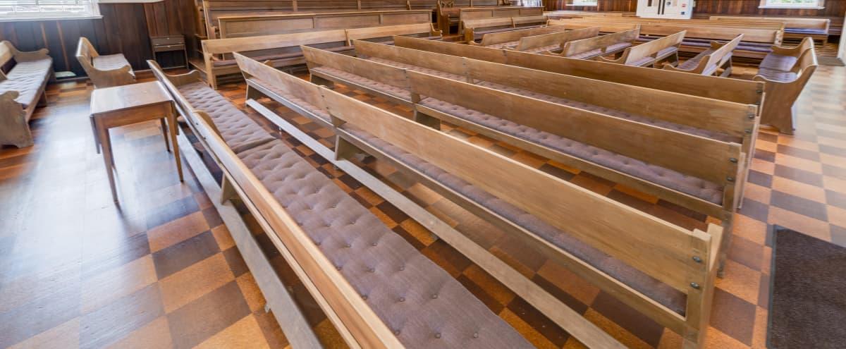 Large meeting space with bench seating in Washington Hero Image in Kalorama Heights, Washington, DC