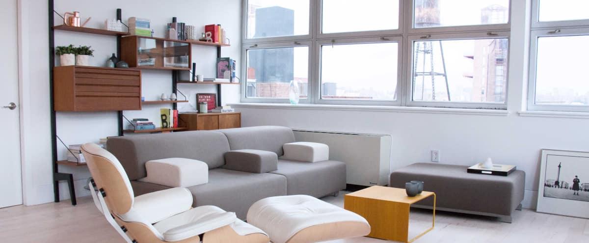 Corner designer loft, high ceilings & natural light in Brooklyn Hero Image in Williamsburg, Brooklyn, NY