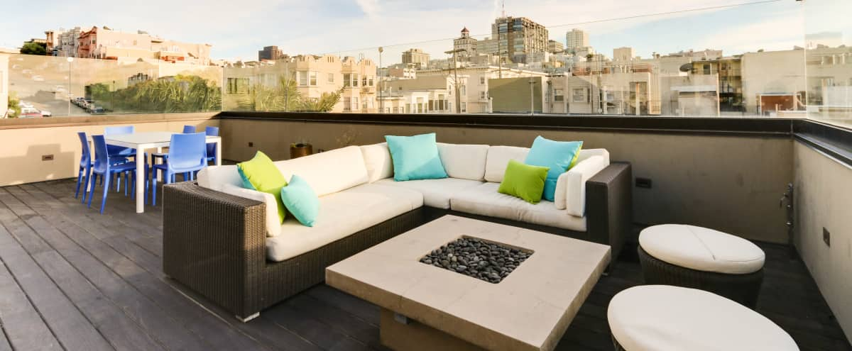 Sunny Roof Deck and Brainstorm Space on Russian Hill in San Francisco Hero Image in Russian Hill, San Francisco, CA