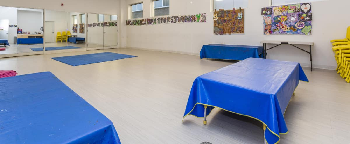 Bright, Open Studio Space with Mirrors | Ocean in Chicago Hero Image in Logan Square, Chicago, IL