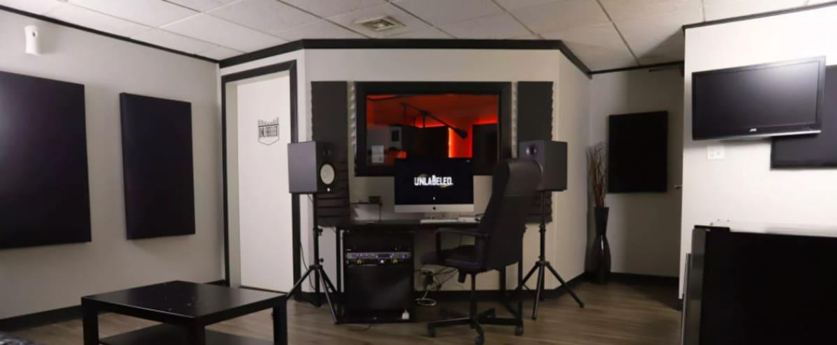 Soundproof Studio B for Music Recording & Livestreams in Kansas City Hero Image in Midtown - Westport, Kansas City, MO