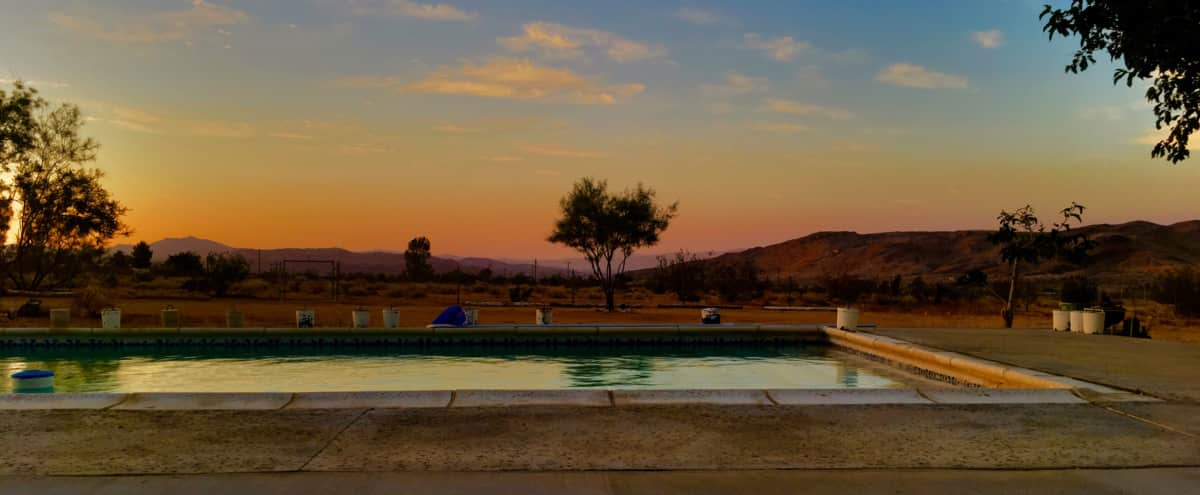 Swimming Pool with Wide Open Spaces and Endless Desert View 10 Acres in Landers Hero Image in undefined, Landers, CA