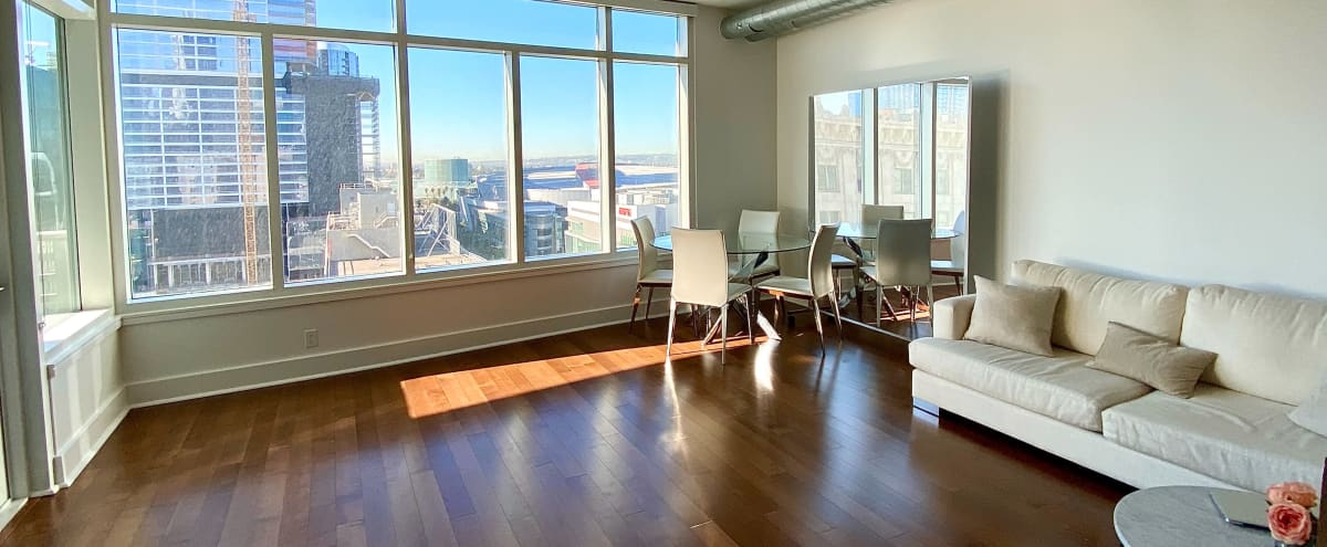 Luxury, Elegant, Modern Downtown Loft With Huge Windows and Balcony in Los Angeles Hero Image in Central LA, Los Angeles, CA