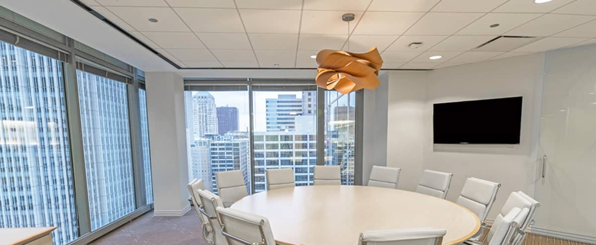 Downtown Meeting Room with City View in Chicago Hero Image in The Loop, Chicago, IL