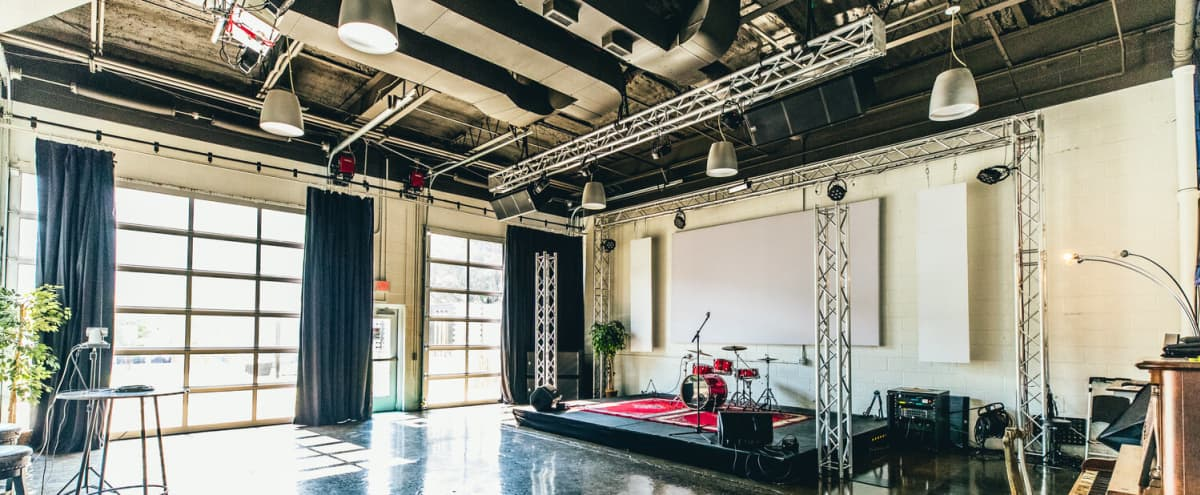 Large Studio with Stage - Seminars, Workshops, Meetings in Nashville Hero Image in East Nashville, Nashville, TN