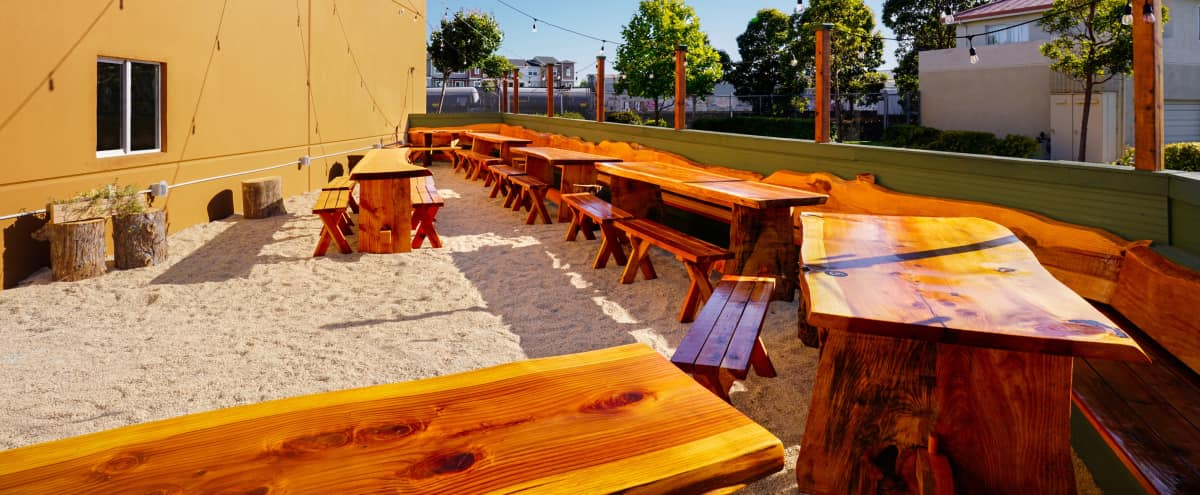 Sun-Soaked Beer Garden with Fire Pit and Bistro Lighting in Richmond Hero Image in undefined, Richmond, CA