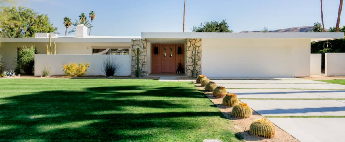 Mid-Century Modern-Zen set on the Indian Canyons Golf Course in Palm Springs Hero Image in undefined, Palm Springs, CA