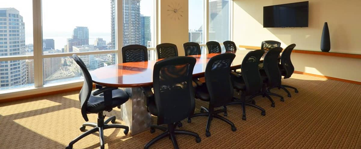 Modern Conference Room for 12 in Seattle Hero Image in Belltown, Seattle, WA