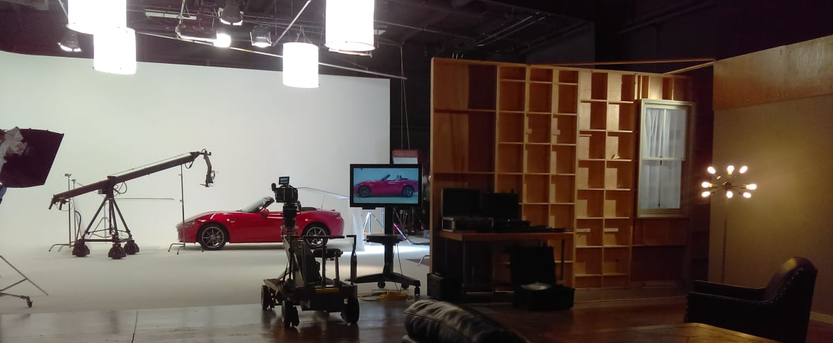 Full service video production soundstage (40 x 50) with two wall cyc wall. in Henrico Hero Image in Marion Hill, Henrico, VA