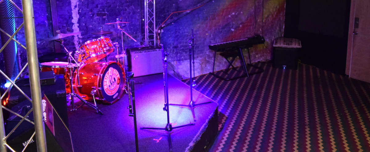 Backlined and Equipped Music Studio Space with Small Stage in San Francisco Hero Image in Polk Gulch, San Francisco, CA