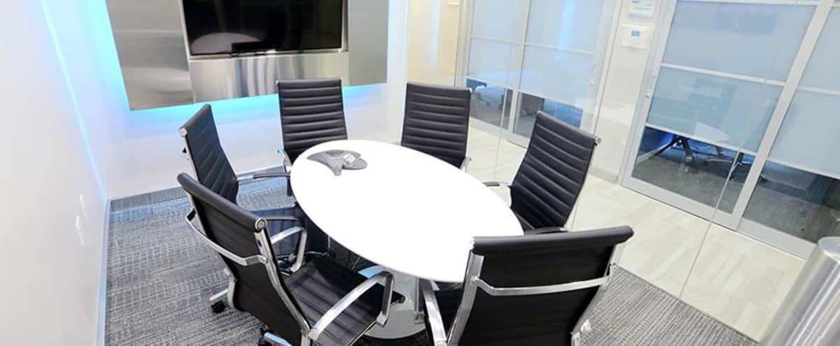 Ultra Modern Glass Enclosed 4th Floor Meeting Room for 6 People - MA in New York Hero Image in Murray Hill, New York, NY