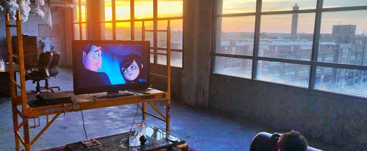 Industrial warehouse Panoramic windows w/ Sunset views. in philadelphia Hero Image in Fairhill, philadelphia, PA