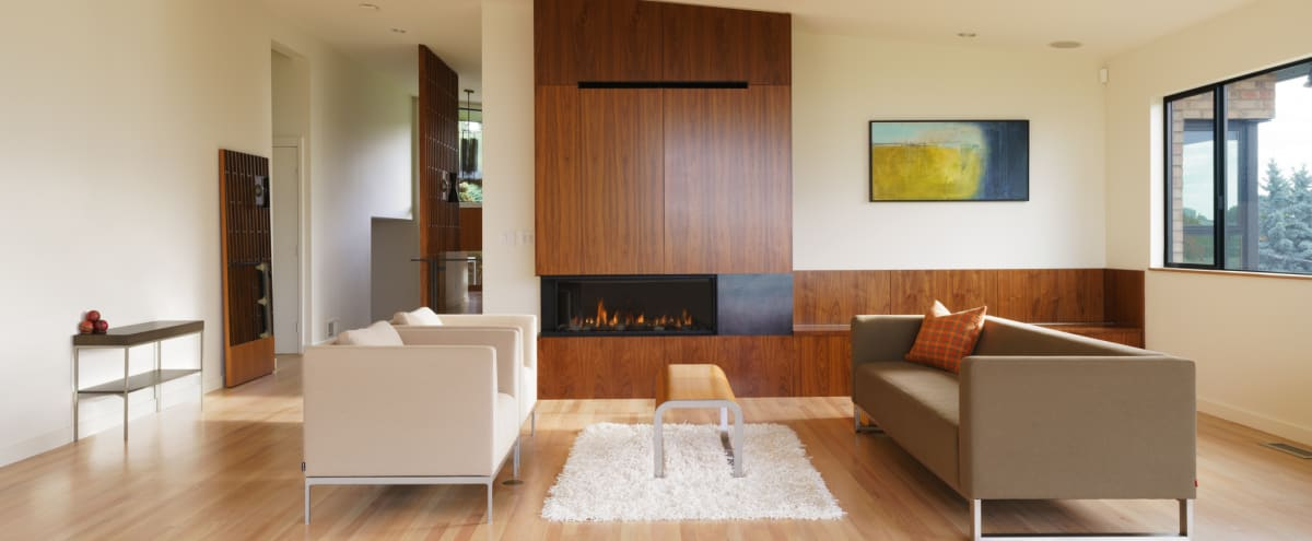 Sleek, Light Filled, Mid-Century House with City, Water and Mountain Views. in Seattle Hero Image in Southeast Magnolia, Seattle, WA