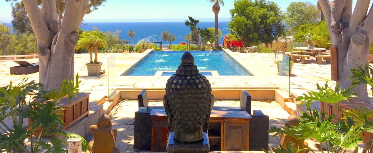 Six-Acre Ocean View Malibu Estate w/ Infinity Pool, Vineyard and Zen Gardens in Malibu Hero Image in Western Malibu, Malibu, CA