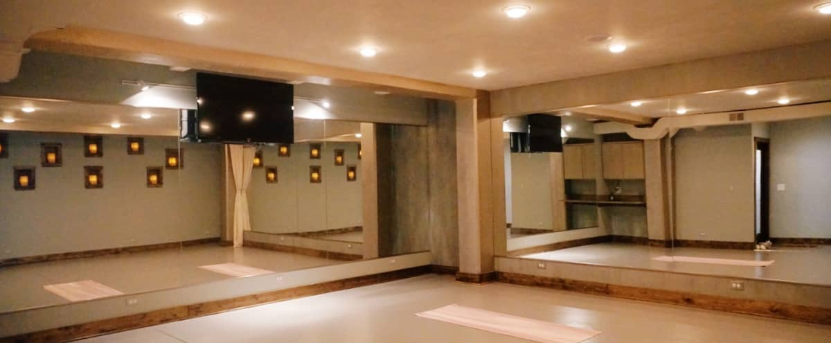 Spacious Yoga Studio at Revival Wellness Spa (Ravenswood Manor) in chicago Hero Image in East Albany Park, chicago, IL