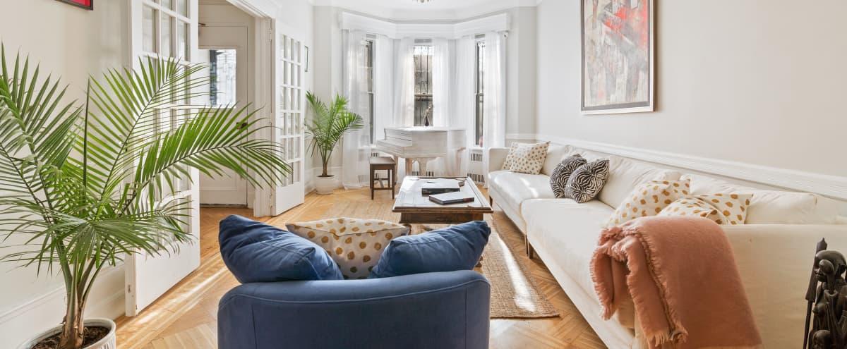 EMERALD SUITE | Historic Landmark Brownstone Mansion in Brooklyn Hero Image in Crown Heights, Brooklyn, NY
