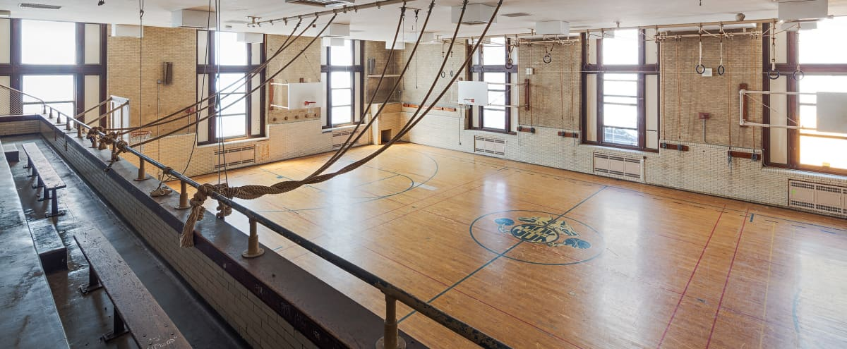 Old School Gym With Full Size Basketball Court Film Photo Shoots Philadelphia Pa Production Peerspace