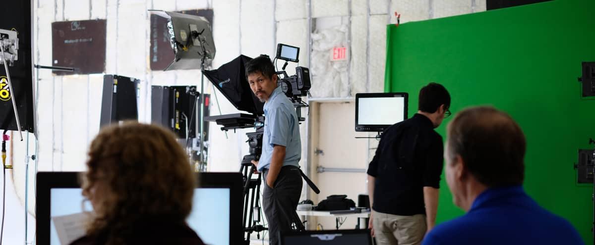 Film Studio in Dallas Design District with White and Green Stages in Dallas Hero Image in Design District, Dallas, TX