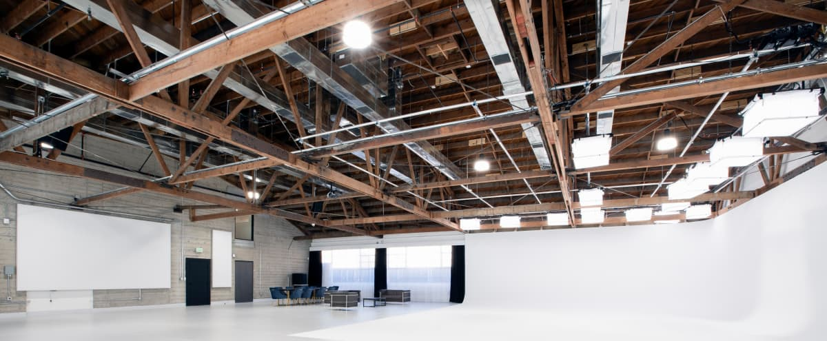 4,750 sq ft Luxury Studio 1 featuring 1410 sq ft Pre-lit 2-Wall Cyc, Lush Lounge, Make-up and Hair Wash Stations, Outdoor Patio and Central Heat & A/C in North Hollywood Hero Image in North Hollywood, North Hollywood, CA