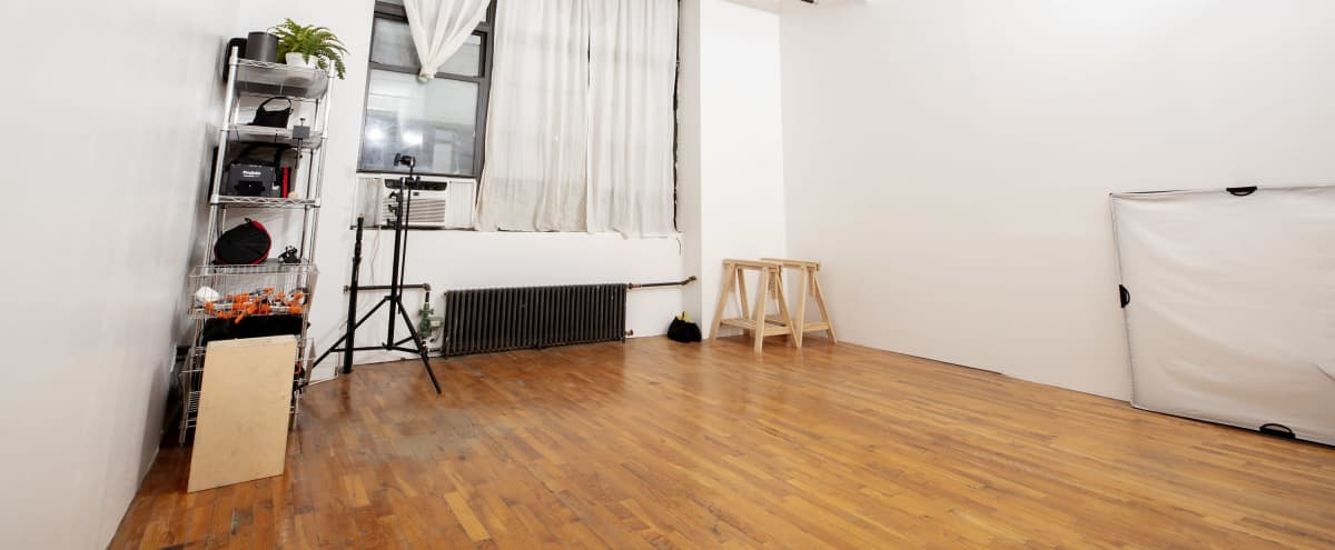 Cozy and Quiet Bushwick Tabletop Studio with Full Kitchen, Private Bath, Office Area, 13' Ceilings and Beautiful Morning Light in Brooklyn Hero Image in Bushwick, Brooklyn, NY