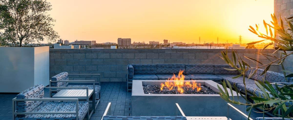 Rooftop Lounge with Full Kitchen & Fire-pit in Anaheim Hero Image in Platinum Triangle, Anaheim, CA