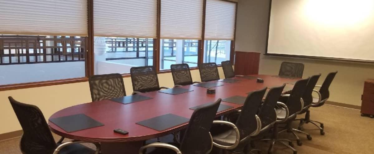 Modern Dunwoody Conference Room with A/V Included in Atlanta Hero Image in Perimeter Center, Atlanta, GA