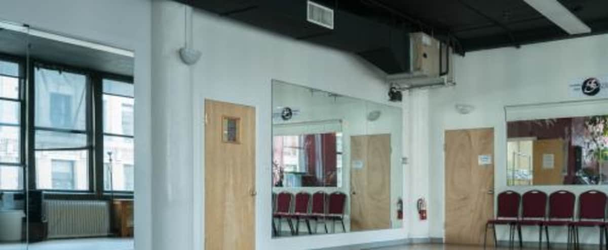 Studio A - for fitness, dancing, casting calls, photo shoots, meetings, lectures, etc. in New York Hero Image in Midtown, New York, NY