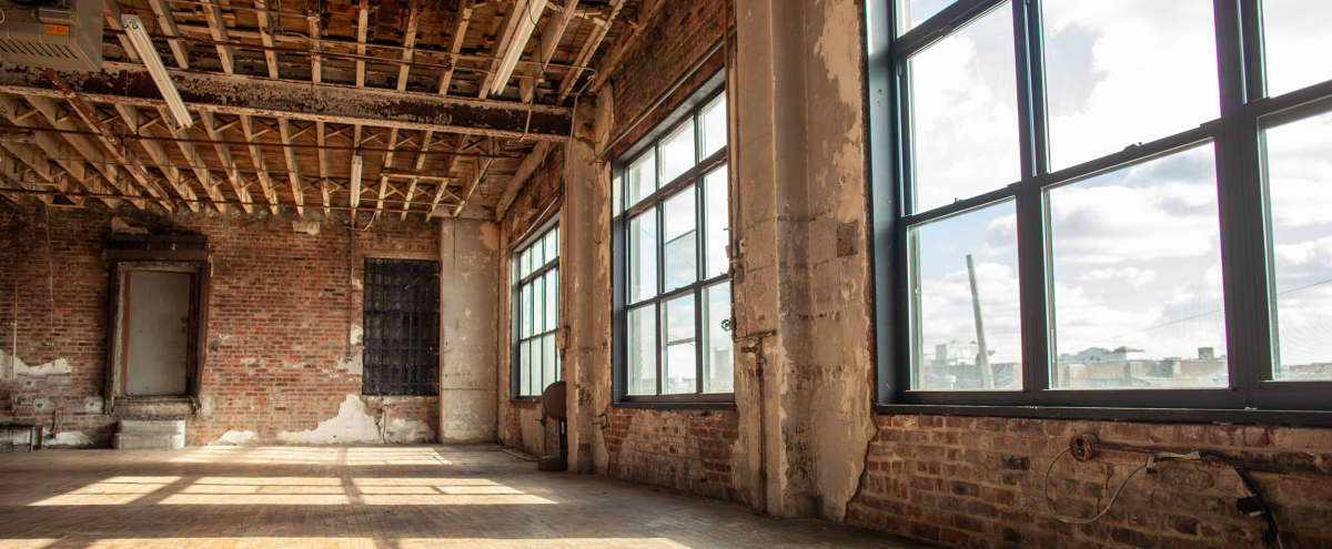 Antique bright Williamsburg loft studio with tons of character in Brooklyn Hero Image in East Williamsburg, Brooklyn, NY