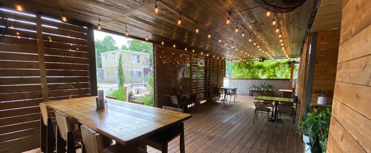 Urban Restaurant with Modern Warm Industrial Feel in Austin Hero Image in Holly, Austin, TX