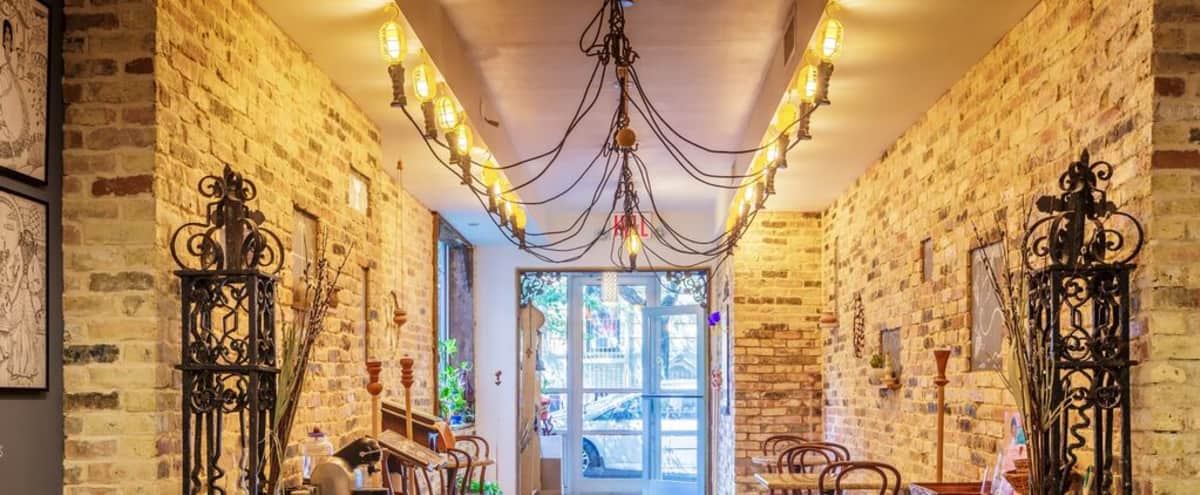 Rustic cafe and meeting lounge in New York Hero Image in Upper West Side, New York, NY