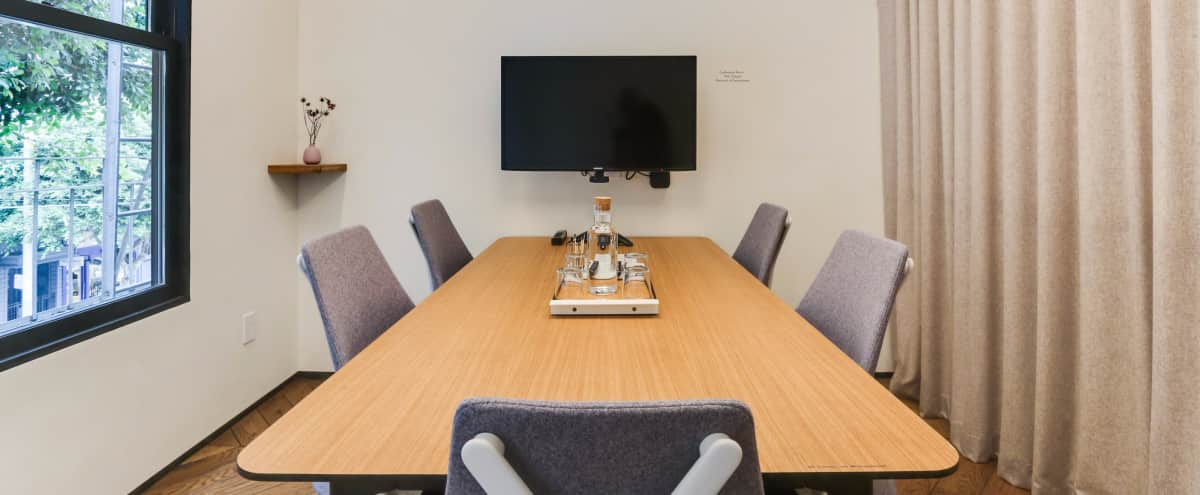 Sophisticated 5-Person Conference Room in San Francisco Hero Image in Pacific Heights, San Francisco, CA