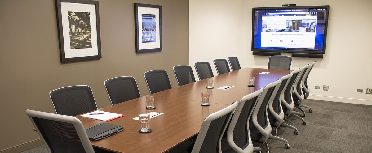 Expansive Boardroom w/ Full Amenities Available in Chicago Hero Image in Chicago Loop, Chicago, IL