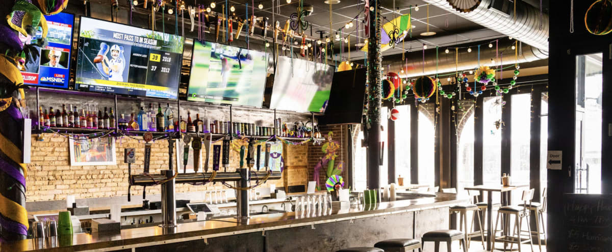 New Orleans theme bar in Wrigley in Chicago Hero Image in Wrigleyville, Chicago, IL