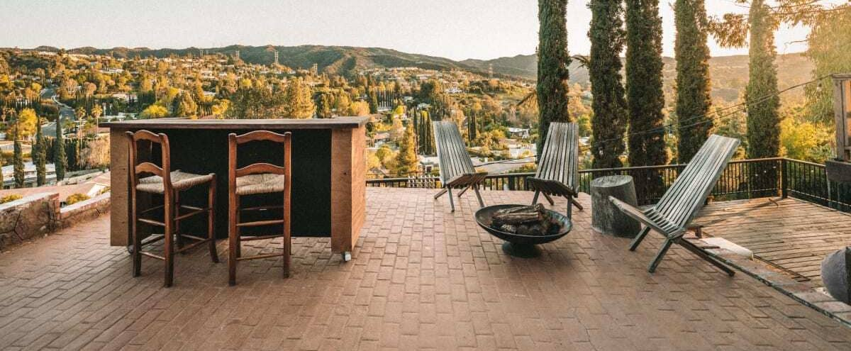 Eclectic Deck + Bar with Million Dollar View in Encino Hero Image in Encino, Encino, CA