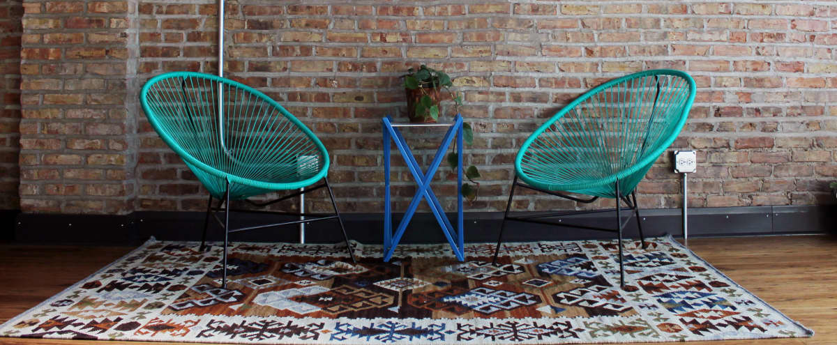 Sunny Design Showroom with Creative Workspace in Chicago Hero Image in Bridgeport, Chicago, IL