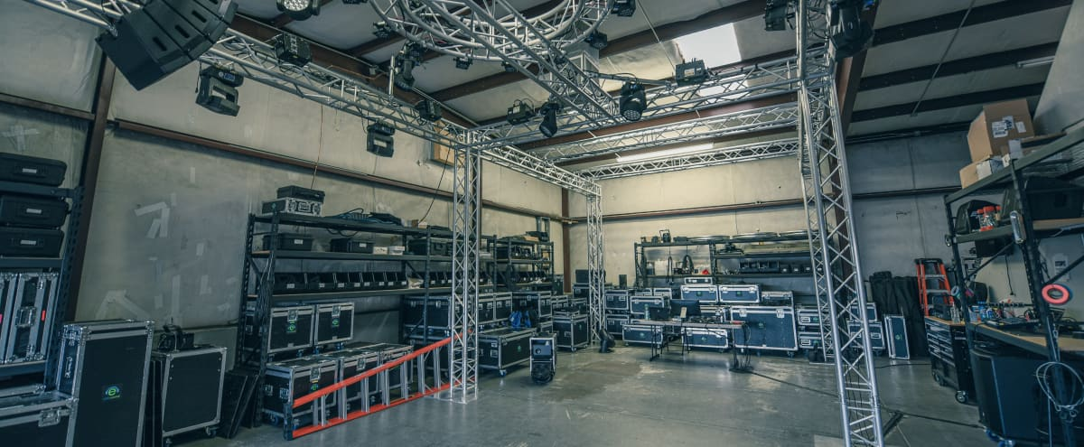 Event Production Company Warehouse with Lighting Lab in Colorado Springs Hero Image in Northeast Colorado Springs, Colorado Springs, CO